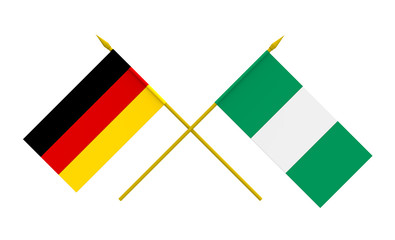 Flags, Germany and Nigeria