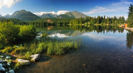 Strbske Pleso is nice lake in High Tatra - Slovakia