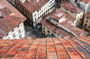 italian streets, old town of Florence, Italy