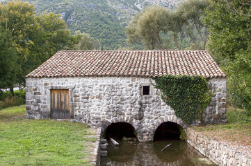 Mediterranean water mill