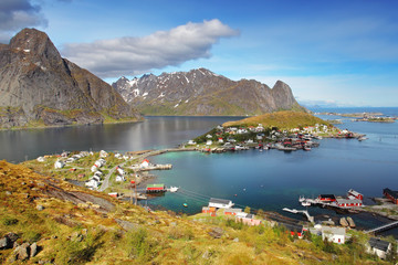 Norway village in sea, Lofoten
