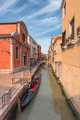 Gondola and canal of Venice, Italy