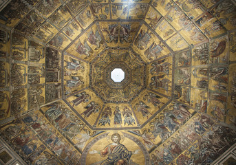 Golden mosaic in baptistery of Santa Maria dei Fiore