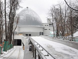 Moscow planetarium in winter
