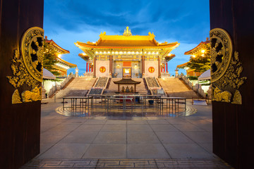 Chinese Temple at dusk, Dragon Temple