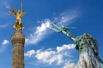 Berlin, Siegessäule und Neptunbrunnen