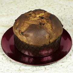 Panettone, typical christmas cake from Milan, Italy