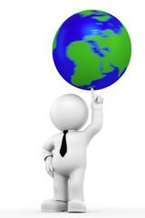 drehender Globus