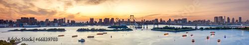 Foto op Plexiglas Tokyo Bucht von Tokyo Panorama