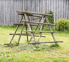 old wooden rack