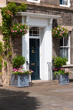 Fototapety Front entrance with elegant designs and decorative plants