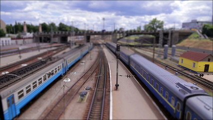 The toy railway (tilt-shift)