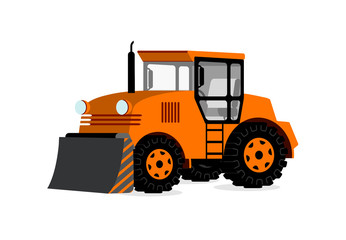 tractor in 3D on white background