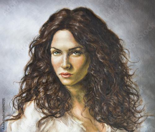 dipinto di una giovane donna - 66840705