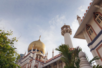 Masjid Sultan Mosque against Blue Sky in Singapore
