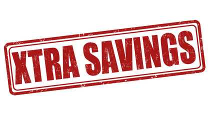 Xtra savings stamp