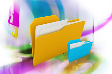 digital background of folder in color background