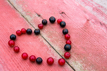 Herz aus Johannisbeeren