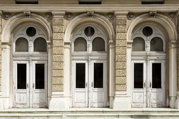 Facade with arches