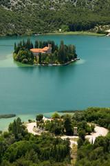 Vicovac Monastery in Krka National Park, Croatia