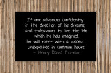Thoreau quote about success unexpected poster