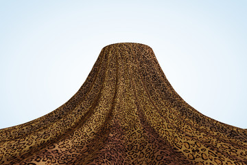 Leopard Fur Display Stand