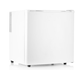 indoor mini fridge isolated on white