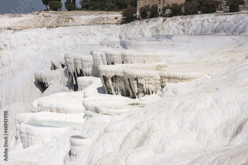Pamukalle Turkey,calcium carbonate travertines