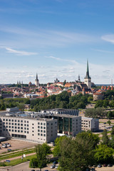 Panorama of old city of Tallinn