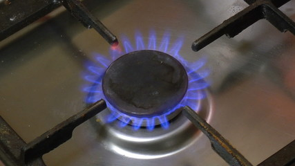 Gas Stove Ignition, closeup
