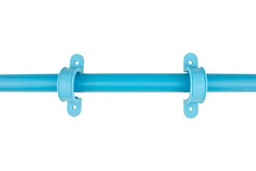 Pvc anchor mounting blue plumbing isolated