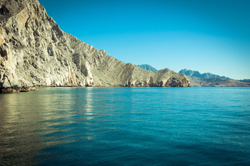Sea of Musandam peninsula , Oman