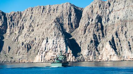 Army petrol boat in Musandam peninsula, Oman