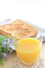 orange juice and flower