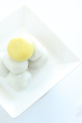 Mid autumn festival food, mochi dango