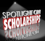 Fototapety Spotlight on Scholarships Words Tuition Payment College Degree