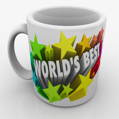 World's Best Mug Award Prize Top Performing Employee Boss Parent