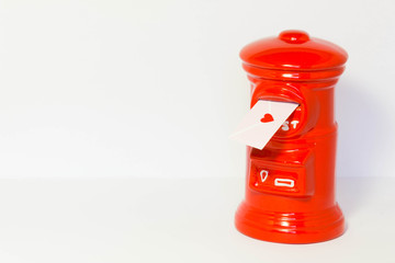 Pillar-box with a love letter