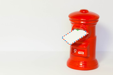 Pillar-box with a airmail