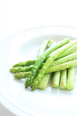grilled green asparagus for gourmet summer vegetable image