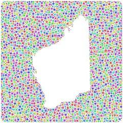 Map of Western - Australia - into a square icon