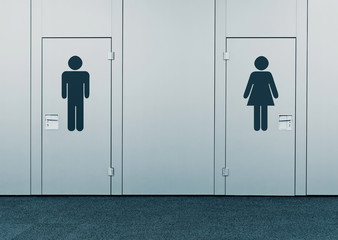Ladies room and mens room