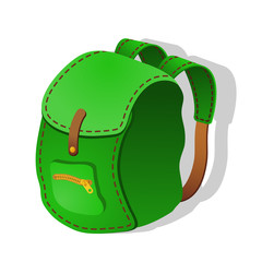 Green Backpack. Vector illustration