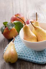 fresh tasty pears
