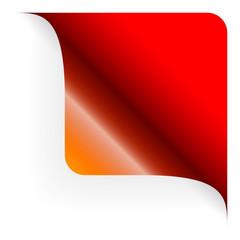 Papier - Ecke oben gerundet rot