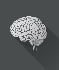 Vector of human brain icon
