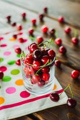 glass of cherries