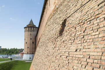 Brick Wall of the Kolomna Kremlin and the Tower