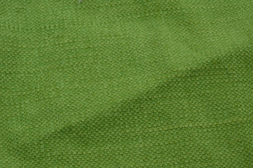 green cotton fabric
