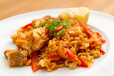 Mixed Paella with chicken and seafood